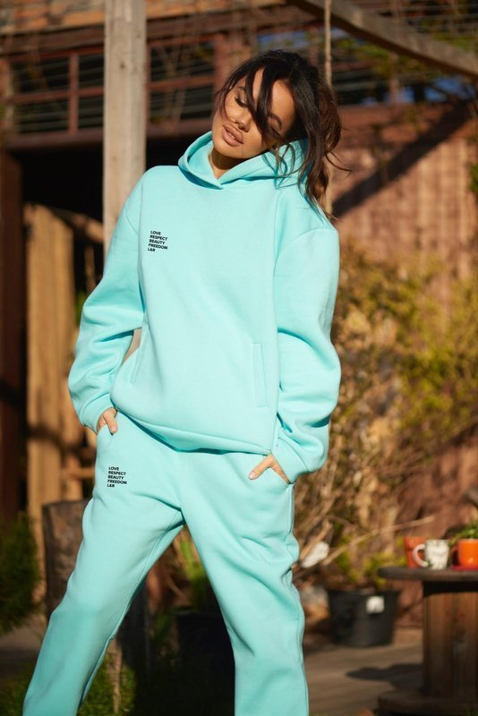 Bluza dresowa Nelly Aqua